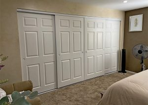 4 panel closet door replacement in San Diego.