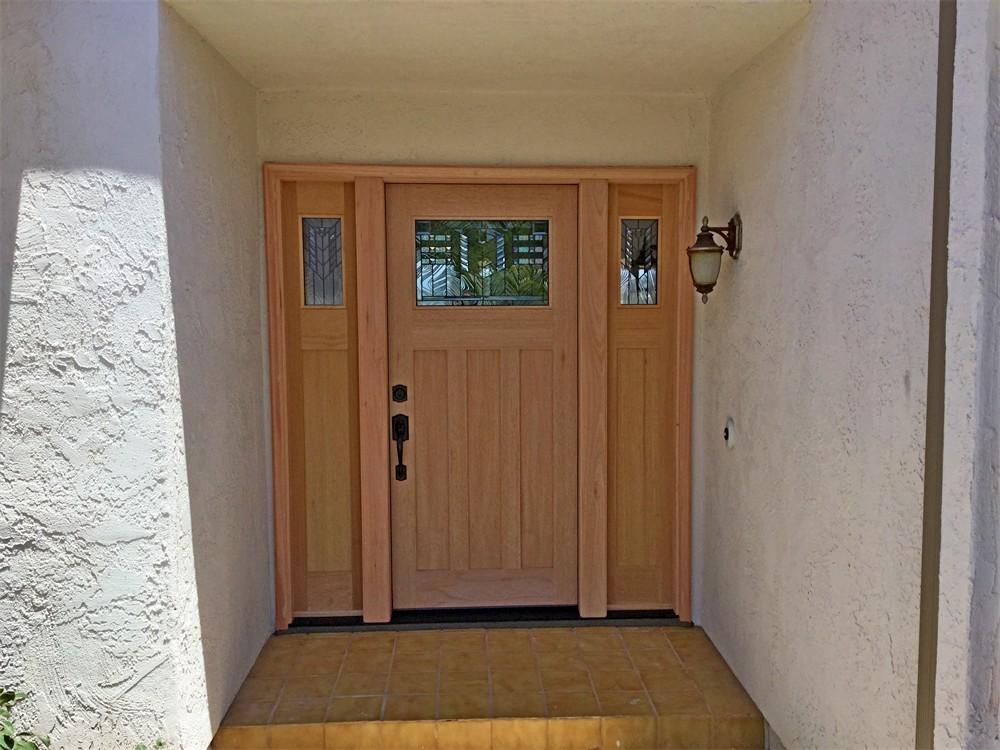 Entry door - after exterior.6-29-20