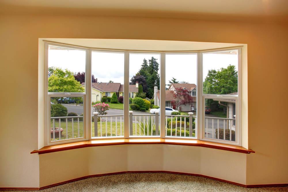 bay window overlooking neighborhood